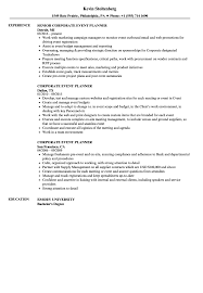 event planner resume corporate event planner resume sles velvet