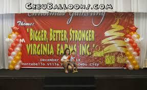 balloon pillars for virginia farms inc cebu balloons and party