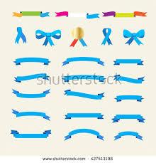 tie ribbon ribbon set ribbons labels icons ribbon stock vector 427513198
