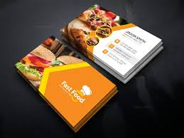 Food Business Card Template fast food business card template 000511 template catalog