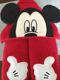 Disney Bathroom Ideas by Mickey Mouse Hooded Towel 3d Appliqued And Embroidered Disney