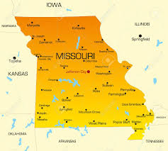 map of missouri vector color map of missouri state usa royalty free cliparts