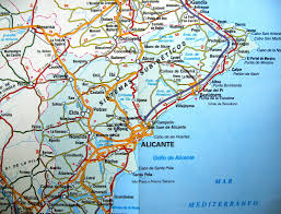The Map Of Spain by Is Benidorm On Map Spain
