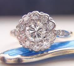 engagement rings flower design engagement ring vintage cluster flower design quality