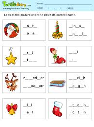 printable missing letters quiz missing letters christmas spelling sheet worksheet turtle diary