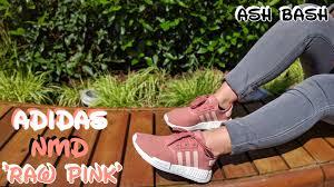 Adidas Nmd Runner Womens by Adidas Nmd R1 Women U0027s Raw Pink On Feet Ash Bash Youtube
