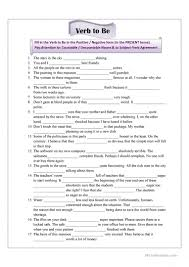 verb to be for advanced students worksheet free esl printable
