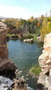 thanksgiving point in lehi ut has beautiful made waterfalls