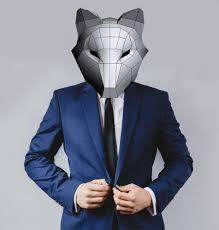 digital halloween mask fox mask costumes papercraft printable pdf digital cosplay animal