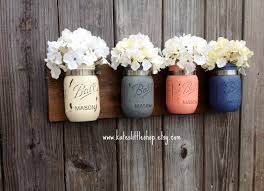 pint size mason jar wall decor wall hanging rustic home