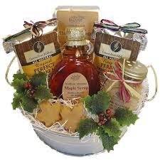 christmas gift baskets maple treats pancake mix gift basket northern harvest gift baskets