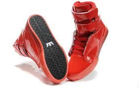 Red Barn Shoes Supra Tk Society Women Shoes Premium Red Black Supra Vaider White