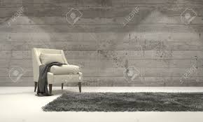 Single Chairs For Living Room Minimalist Monochromatic Living Room Interior With Grey Decor