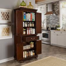 furniture dark wood freestanding pantry on cozy lowes tile