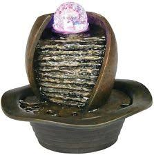 Home Decor Fountain Newport Water Fountain Rock Peace Indoor Feature Led Calming Table