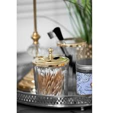 Bathroom Countertop Accessories by Clear Glass Storage Jar With Silver Or Gold Lid Jodie Byrne