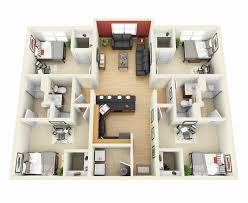 small 4 bedroom house plans