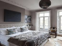 bedroom paint ideas grey oval mirror with chrome frame decorated