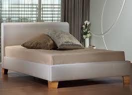brooklyn white faux leather bed frame by birlea 5ft kingsize