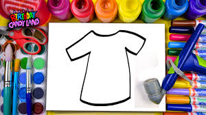 t shirt coloring page learn to color for kids and airbrush color this t shirt coloring