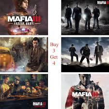 livingroom bar mafia posters game wall stickers white coated paper prints high