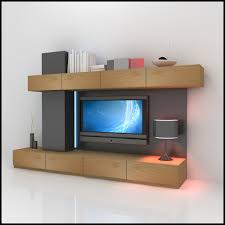 Modern Wall Unit by Tv Wall Unit 3d 3ds