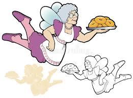fairy grandmother the donut fairy stock vector image 42546904