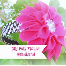 felt flower headband diy felt flower headband tutorial