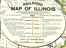 Elgin Illinois Map by Railroads Map Legend
