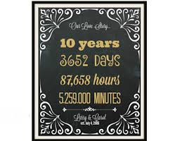 10th year wedding anniversary 50th wedding anniversary sign anniversary gift for