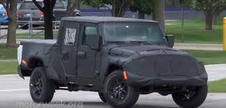 jeep chief concept jeep wrangler pickup spied on video