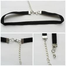 velvet ribbon necklace images Choker necklace black ribbon adjustable size with a width of 3 8 jpg