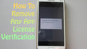 android license how to remove any app license verification on android