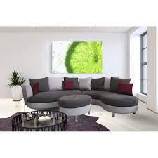 canapé d angle arrondi canapé d angle arrondi lind pouf achat vente canapé sofa