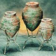 Vase Sets Clay 3pc Pottery Set U2013 Spiral Design Vase Set U2013 Kokopelli Decor