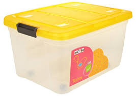 nayasa toy box with lid 25 litres transparent clickonway