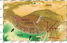 Himalayan Mountains Map Crustal Melting And The Flow Of Mountains Elements