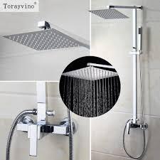 online get cheap bath rain shower aliexpress com alibaba group torayvino us bathroom shower faucet wall mounted bath shower mixer rainfall with shower hand