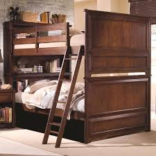 Bedroom Sets Bookshelf Headboard Lea Industries Elite Expressions Full Over Full Bunkbed With
