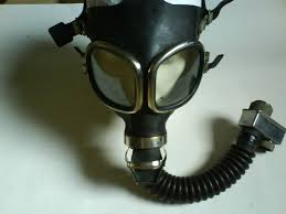 gas mask branded in the 80s