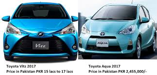 Toyota Aqua Toyota Vitz 2017 Vs Toyota Aqua 2017 Comparison Prices Specs