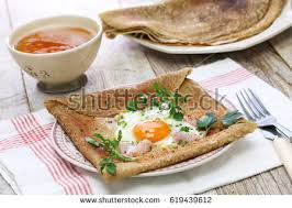 cuisine crepe galette sarrasin buckwheat crepe stock photo