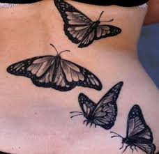 black and grey butterfly tattoos black and grey chest design