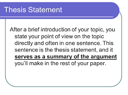 what is the thesis statement thesis statements what is a thesis statement how do thesis