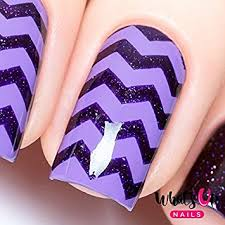 amazon com whats up nails regular zig zag tape nail stencils