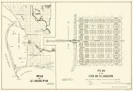 Florida City Map Old City Map St Joseph Florida Planning 1837