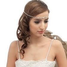 forehead bands pearl bridal forehead band lola zaphira bridal