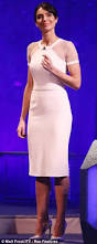 christine bleakley looks angelic in a little white dress and