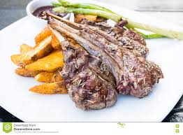 Rack Of Lamb On Grill by Grilled Lamb Chop Steak Stock Photo Image 82378900