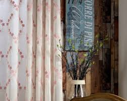 Sheer Off White Curtains Two White Raindrop Sheer Curtains Custom Made To Order Up To
